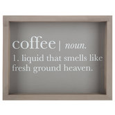 Coffee Definition Wood Wall Decor